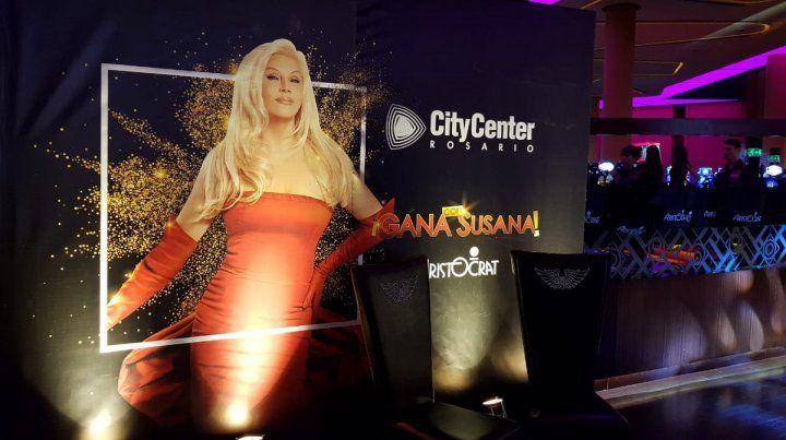 Susana lanzó en Rosario un nuevo juego para el City Center