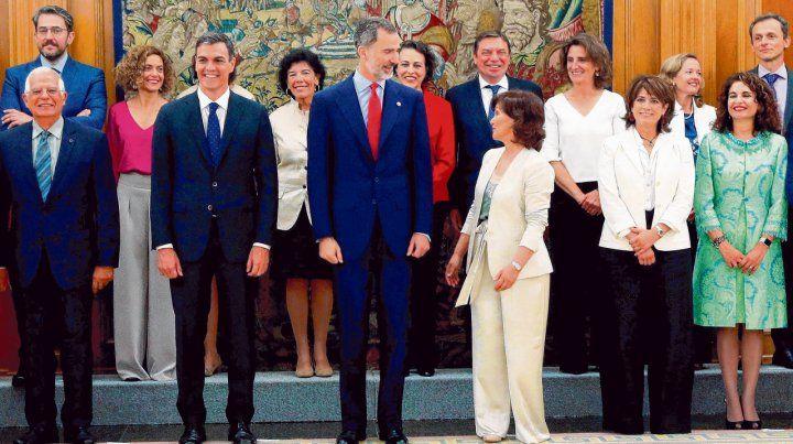 Un momento de distensión junto al rey Felipe VI