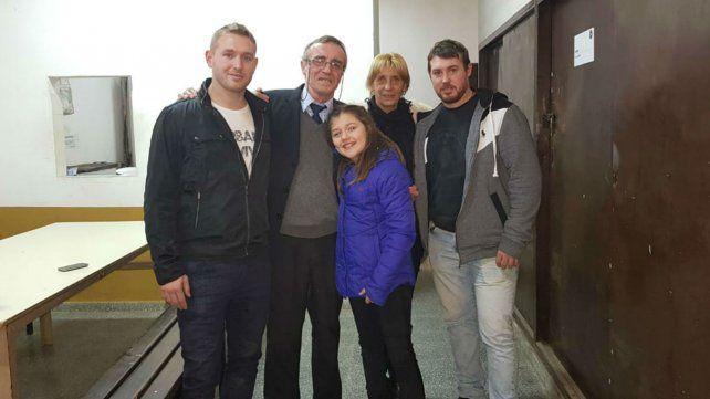 Tognoli y su familia