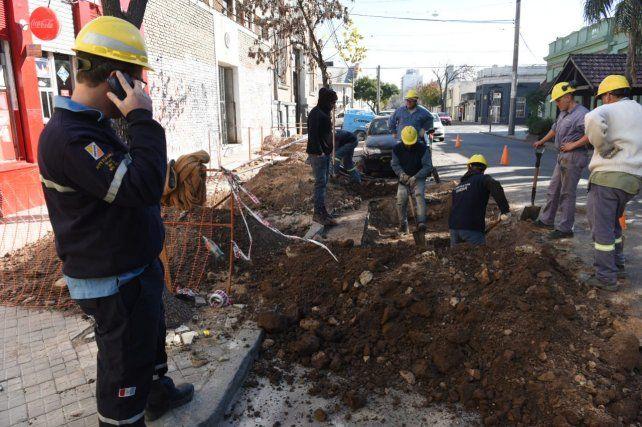 La zona de Montevideo entre Lagos y Callos donde se produjo el corte de un cable de media tensión.