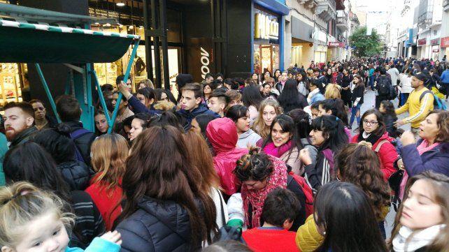 Los manifestantes se juntaron en Córdoba y Entre Ríos para dar su adhesión en contra del aborto.