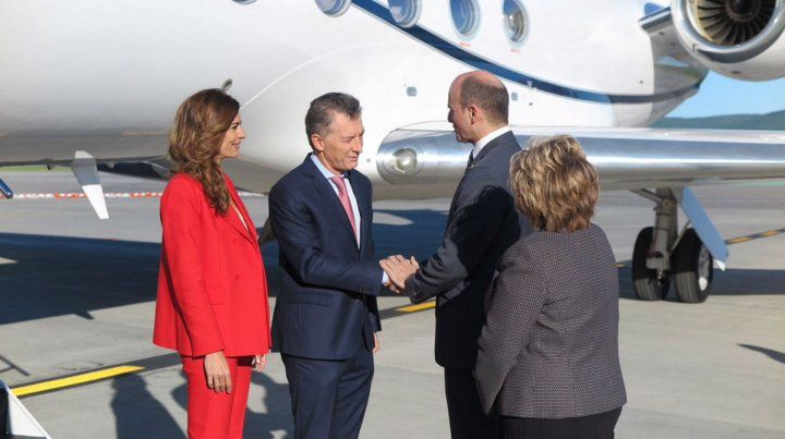 Macri junto a Juliana Awada