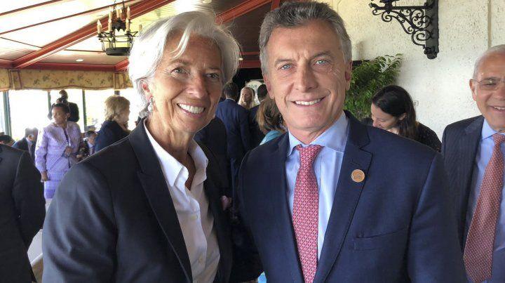 Macri se mostró con Lagarde por primera vez tras el acuerdo con  el FMI, en el marco de la cumbre del G7