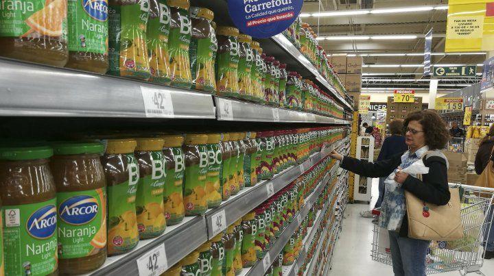 Los precios siguen subiendo en las góndolas de los supermercados.