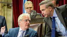 Roles. Pinedo y Pichetto vienen negociando la reforma en la Cámara alta.