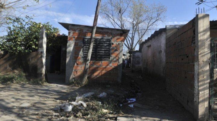 Lima al 2900. Guadalupe fue hallada en una casa a medio levantar a unos 50 metros de la entrada del pasillo.