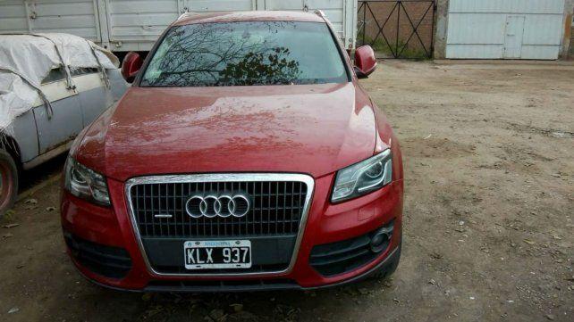 La camioneta Audi en la que viajaba el empresario fue hallado el domingo en Villa Gobernador Gálvez.