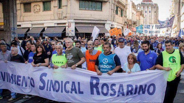 Los gremios del Movimiento Sindical Rosarino reclaman un paro general
