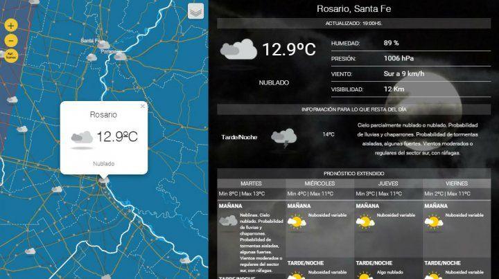 Sigue el alerta por tormentas fuertes y ola polar para Rosario y la región
