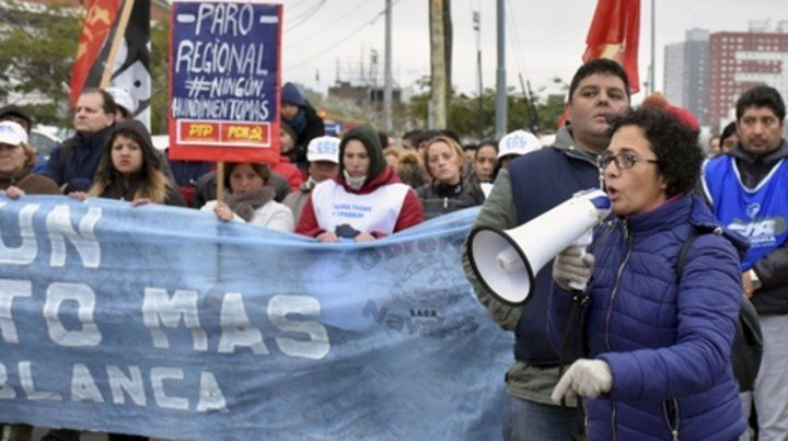 Protesta. Familiares de los ocho desaparecidos marcharon ayer.