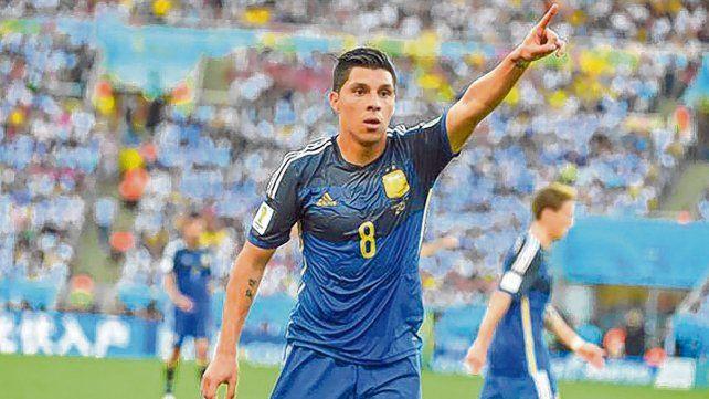 Polifuncional con carácter. El ex volante de Godoy Cruz fue el reemplazante de Di María en pleno Mundial de Brasil y ahora ingresó en la lista por el lesionado Lanzini.