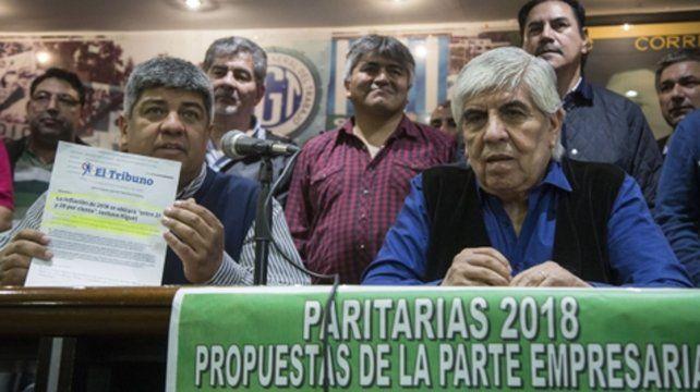 En marcha. Pablo y Hugo Moyano confirmaron la huelga de camioneros para el jueves.