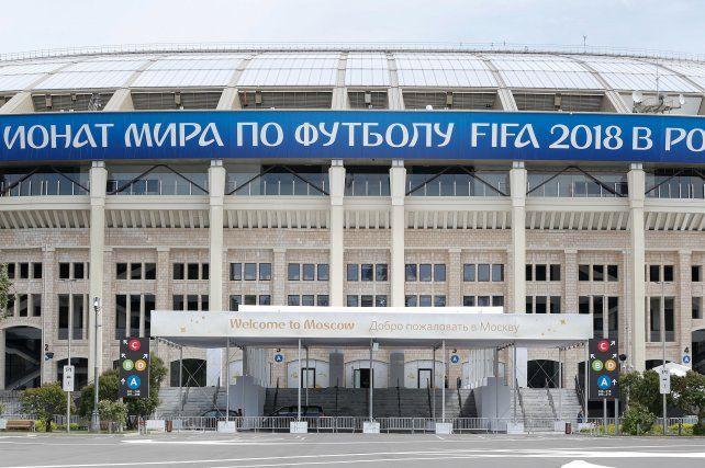 El estadio Luzhniki de Moscú