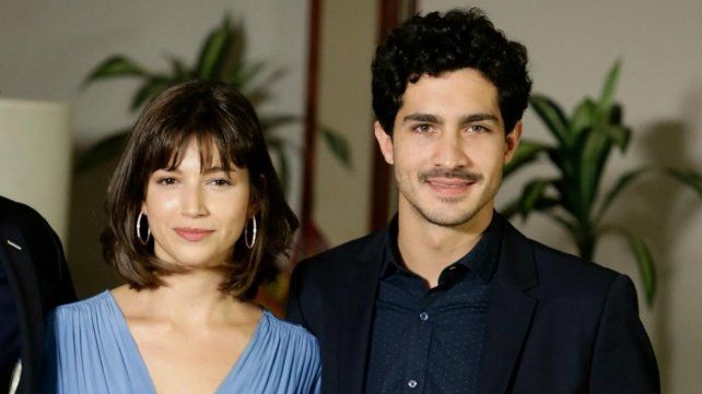 La actriz y su novio, el Chino Darín.