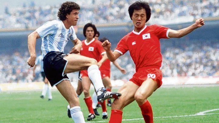 Jorge Valdano. Fue el autor del primer gol ante Corea en el Mundial de México 1986