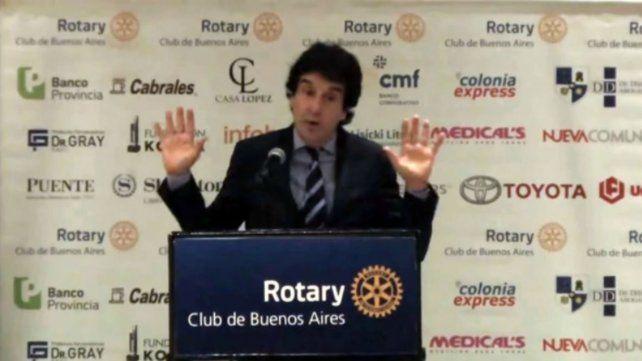Carlos Melconian habló en el Rotary Club y desató la polémica.