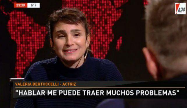 Valeria Bertuccelli dijo que la pasó muy mal con Darín