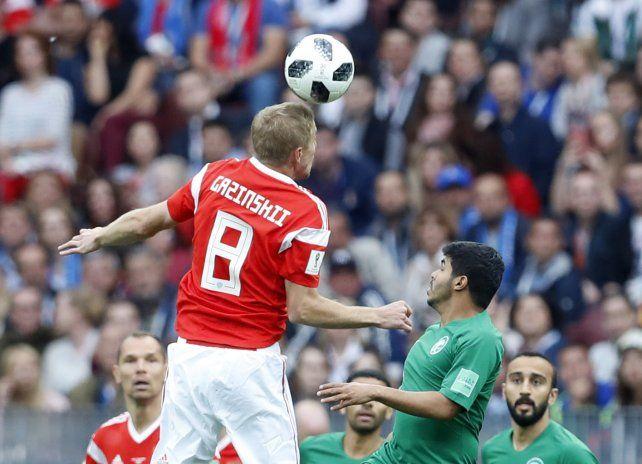Rusia goleó 5 a 0 a Arabia Saudita en el arranque del Mundial
