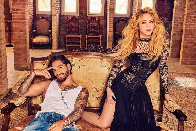 Shakira calienta la previa del show en Rosario con Clandestino y Maluma