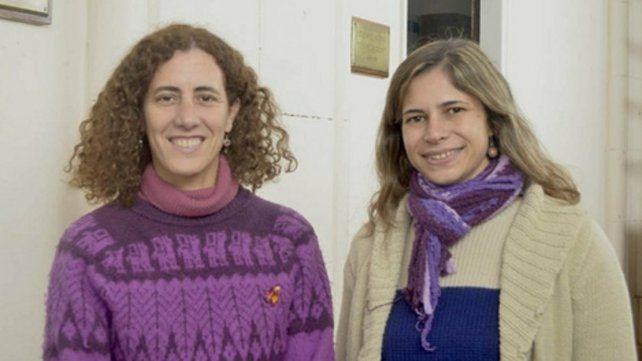 Las antropólogas Verónica López y Ludmila Rizzo.