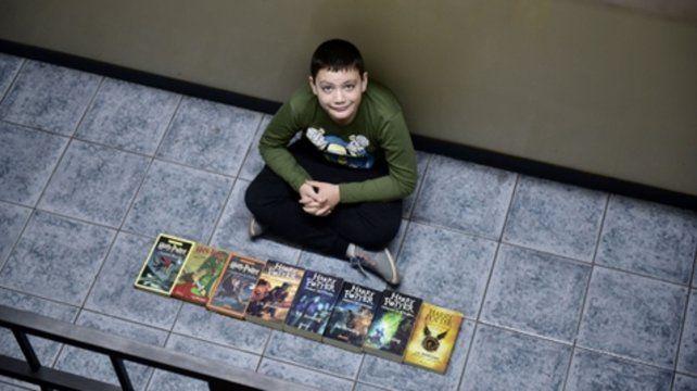 Lorenzo leyó y disfrutó de la saga de Harry Potter.