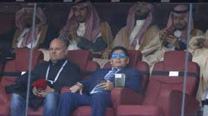 Diego Maradona en Rusia.