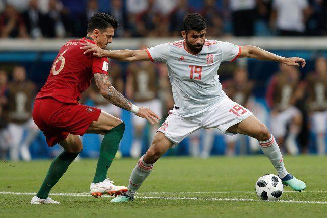 Diego Costa hizo doblete y anotó el segundo de España.