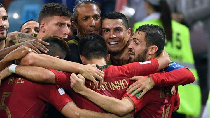 Cristiano Ronaldo brilló en el empate de Portugal y España