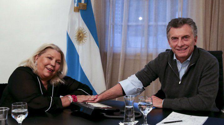 Gestos. Carrió y Macri