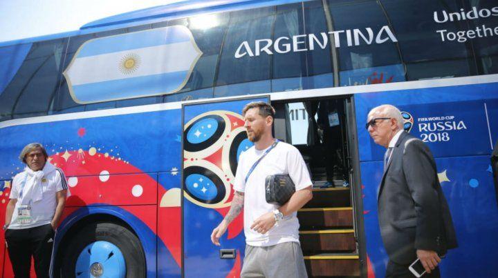 La ilusión argentina ya se instaló en el estadio del Spartak