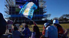 en la zona sur siguieron el partido por pantalla gigante