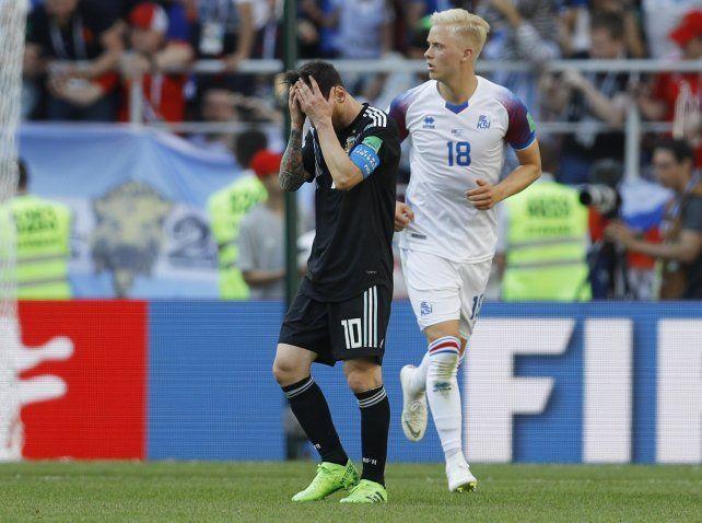 Messi tuvo un flojo desempeño más allá del penal fallado