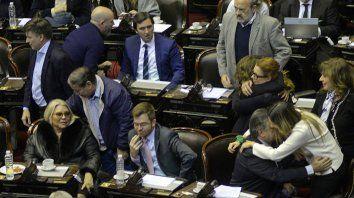 La alegría de los legisladores que votaron por la legalización contrasta con la desazón de los que se opusieron.