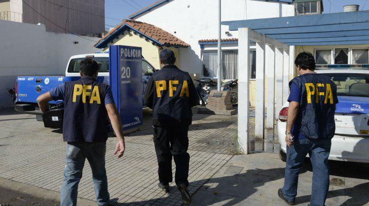 La seccional de Empalme Graneros fue requisada en 2015 por los federales que investigaron el caso.