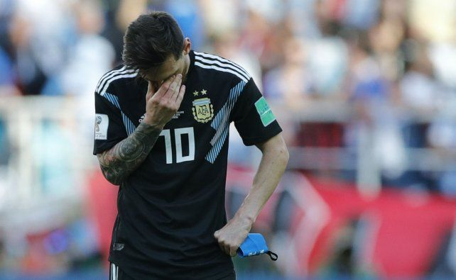 Messi no disimula su frustración en un partido en el que intentó mucho y no consiguió casi nada.