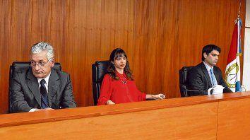 Tribunal. Los jueces Curto, Verón y Alliau comunicaron los fundamentos de su sentencia el miércoles 27 de junio.