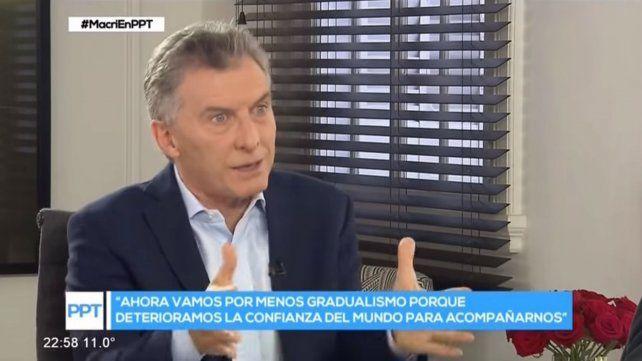 Macri adelantó que ahora vamos por menos gradualismo