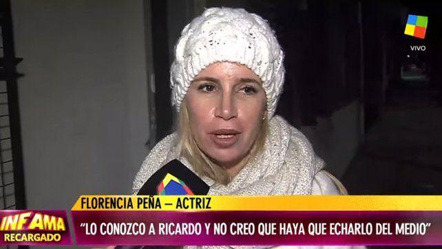 ¡Es un tipo amoroso!, dijo Flor Peña que defendió a Darín