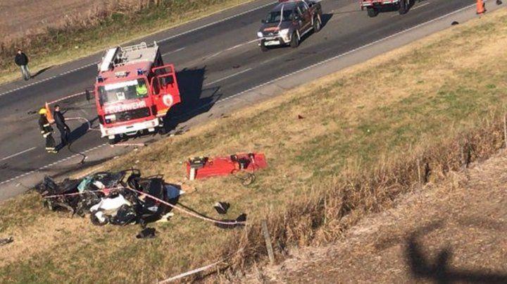 Revelan la identidad del conductor y sus dos hijas que murieron en la ruta