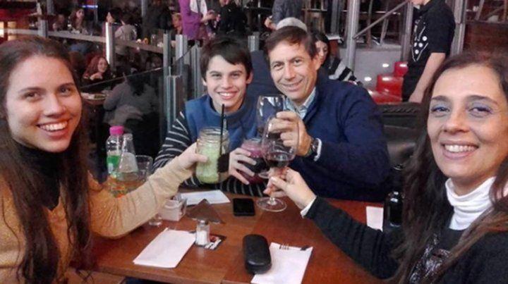La última foto que publicó Naidenoff junto a sus hijos