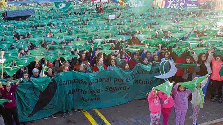 Que sea ley. Una de las tantas marchas a favor de la legalización del aborto.