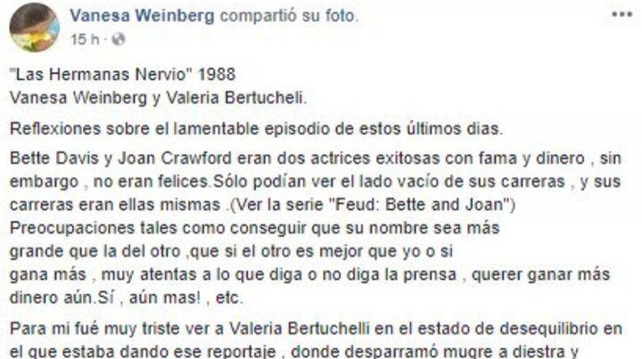 Ahora la mujer de Darín compartió durísimas palabras contra Bertuccelli