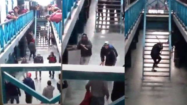 Las imágenes de cómo fue por dentro el motín en la cárcel de Las Flore