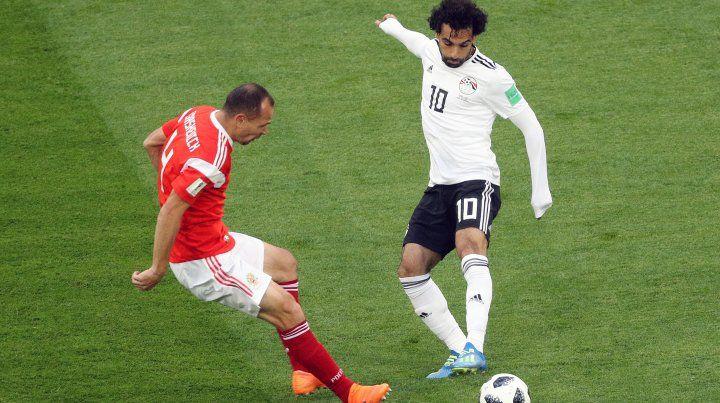 Rusia le ganó 3 a 1 a Egipto y sigue imparable