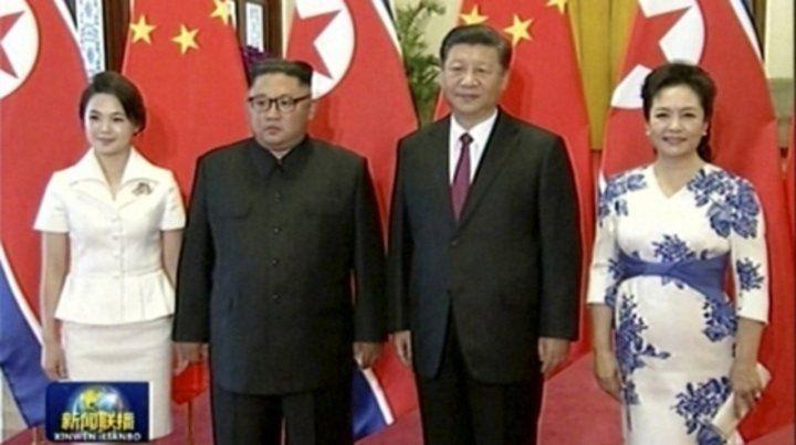 Visita sorpresa. Los líderes de Norcorea y China