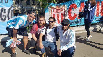 Sampaoli tiene su hinchada casildense que lo sigue en Rusia