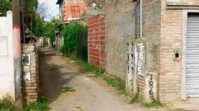 Pasillo. La casa donde se produjeron los insólitos atentados.