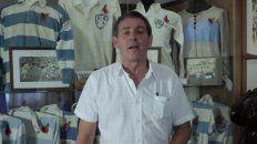 Mundialista. Daniel Baetti jugó dos de rugby con la camiseta de Los Pumas, las que atesora.
