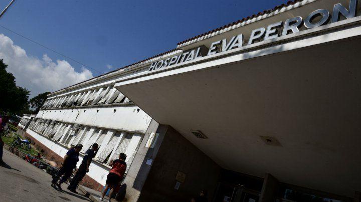 La víctima quedó internada en el Hospital Eva Perón.