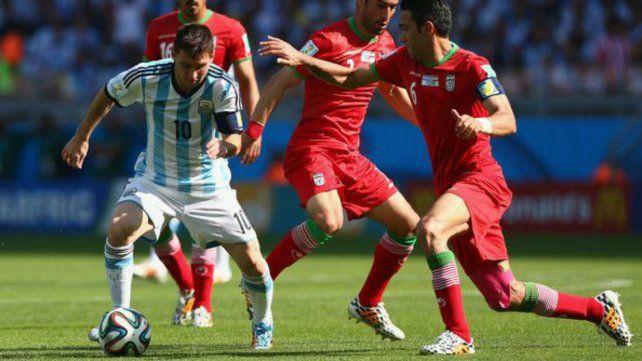 Argentina contra Irán, un duelo clave del Mundial de Brasil.